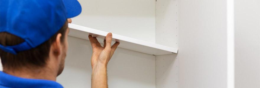 Installation de meubles de rangement