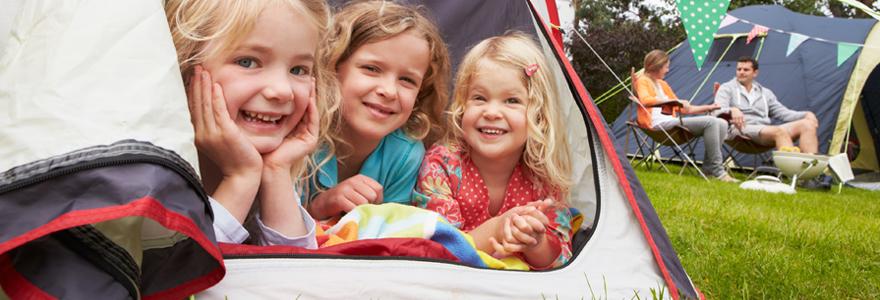 Camping dans un cadre familial